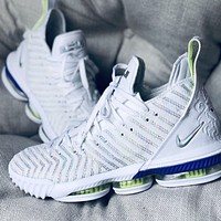 Nike Lebron 16 Buzz LBJ16 New fashion hook men running shoes White