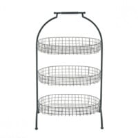 3 Tier Iron Basket Stand
