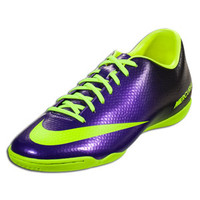 Nike Mercurial Victory IV IC - Electro Purple/Volt Black  || SOCCER.COM