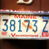 """Upcycled Wall Mount Maine """"Vacationland"""" Vintage License Plate Mailbox"""