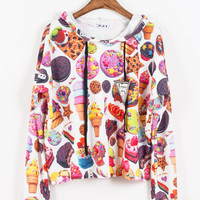 Fruits long sleeves Hooded Shirt from Sweetbox Store
