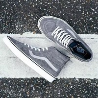 Trendsetter Vans x Madness Sk8-Mid Canvas Flat Sneakers Sport Shoes