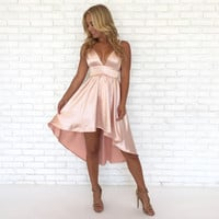 Buttercup Silk Dress in Pink