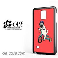 Pug Bicycle For Samsung Galaxy Note 4 Case Phone Case Gift Present