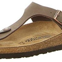 Gizeh (Women's) Cork-Footbed Flat Sandals in Mocha Brown [New Style]