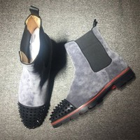 DCCK Cl Christian Louboutin Boots Style #2099 Sneakers Fashion Shoes