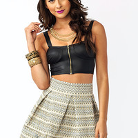 Zipped-And-Strapped-Bustier BLACK - GoJane.com