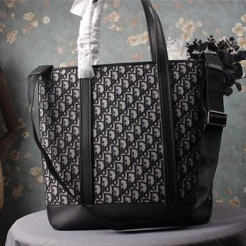 HCXX 19June 482 Dior Shopping Bag Delivery Grade Embroidery Shopping Bag 44-37-16 black
