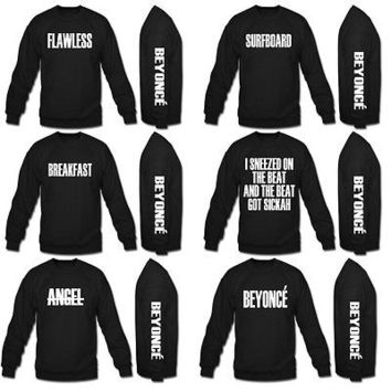 beyonce flawless sweatshirt angel beyonce breakfast white design sweatshirt crew