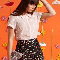 Let's Do Lovely Button-Up Top in Puff   Mod Retro Vintage Short Sleeve Shirts   ModCloth.com
