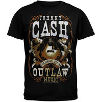 Johnny Cash - Outlaw Music Concert Poster T-Shirt