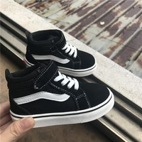 Black leather shoes with boys and girls