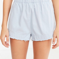 Ecote Coffee Break Frayed Paperbag Short | Urban Outfitters