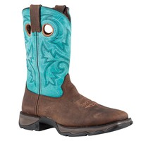 Durango Lady Rebel Pull-On Brown/Turquoise in Stable / Work Boots