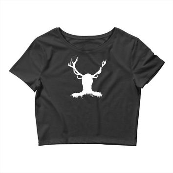 hannibal   stag Crop Top