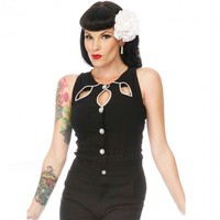 Voodoo Vixen Cut-Out Top | Classic Pin Up Rockabilly Style