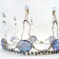 Aurora Borealis Lavender Silver Wire Wrapped Crown by angelyques