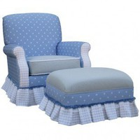 Angel Song Adult Club Glider Rocker in Blueberry - 201021102 - Furniture