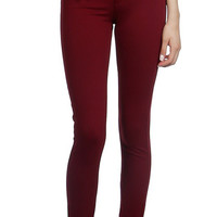 Adventurous Travels Burgundy Jeggings