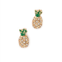 Rhinestoned Pineapple Studs