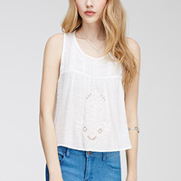 Tulip Back Embroidered Top