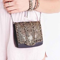 Ecote Embellished Small Shoulder Bag - Black One