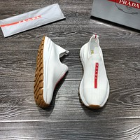 Best Quality Prada 2020 Popular Men Casual Breathable Canvas Sneakers Running Shoes TREDING mens   Valentino low top shoe boots