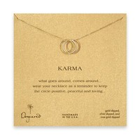 "Dogeared Triple Ring Mixed Metal Karma 18"" Boxed Necklace"
