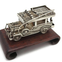 Silver Filigree Figurine - Safari Jeep, Automobile