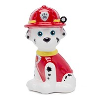 Licensed Nickelodeon Paw Patrol Marshall Mini Molded Ceramic Piggy Bank