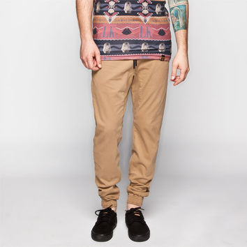 Charles And A Half Mens Twill Jogger Pants Tan  In Sizes
