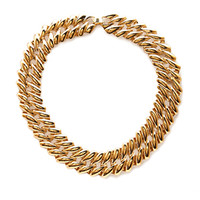 FOREVER 21 Twisted Chain Choker Gold One