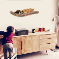 wave shelf cat bed wall mounted bed pet shelf cats shelves cat shelf pet supplies nesting supplies cat accessories cat bed nice bed