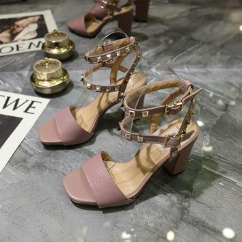 VALENTINO Women's Leather High-heeled Sandals