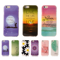 """Butterfly Flower Lips Coque For Apple iPhone 6 iphone 6s Case 4.7"""" Cute Soft Plastic Silicone Cartoon Printing Phone Cover"""