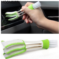 MOONBIFFY Car Diy New Plastic Car Air Conditioning Vent Blinds Cleaning Brush For Series Part Accessories