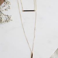 Dainty Layer Bar Necklace