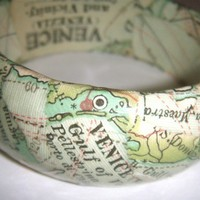 Vintage Map of Venice Italy HandDecoupaged by cadencedesigns