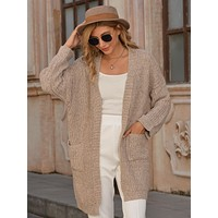 Double Pocket Chunky Knit Cardigan