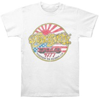Aerosmith Men's  Boston To Budokan Slim Fit T Slim Fit T-shirt White