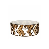 Copper Scalloped Coffee Table | Eichholtz L'indiscret