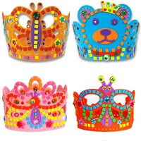 3 Pcs /Set Children DIY EVA Crown Handmade Material Pack Kits Puzzle Handicraft Artesanato Material Early Education Art Crafts