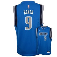 adidas Dallas Mavericks Rajon Rondo Replica Jersey - Boys 8-20, Size: