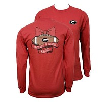 Southern Couture Georgia Bulldogs Vintage Football Long Sleeve T-Shirt