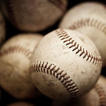 Baseballs Art Photograph 8x10 For sports by LisaRussoPhotography