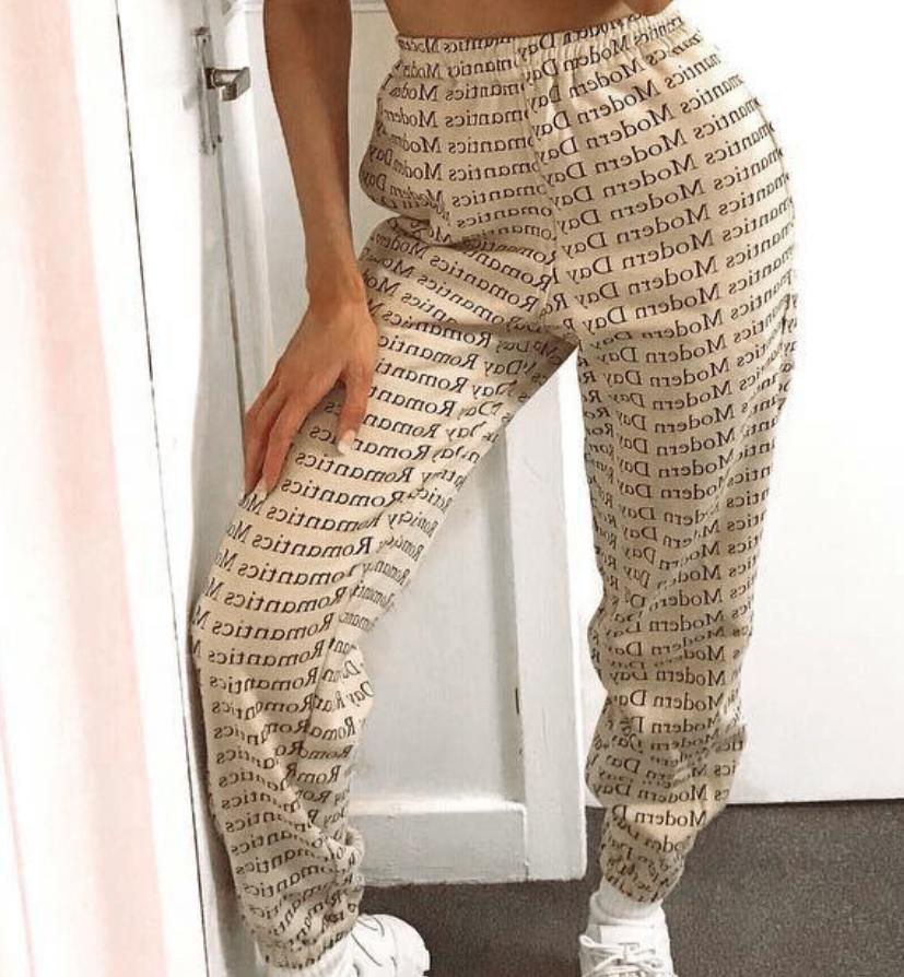 Image of Hot style printed lace-up with compression printed slacks