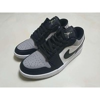 Air Jordan 1 Retro Low Black White Gray