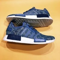 LV Adidas Originals NMD R1 PK Fashion Trending Sneakers Running Sports Shoes
