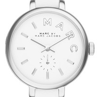 Women's MARC BY MARC JACOBS 'Sally' Round Leather Strap Watch, 28mm