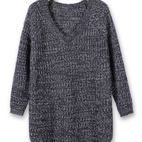 'The Vala' Long Sleeve V-neck Knitted Pullover